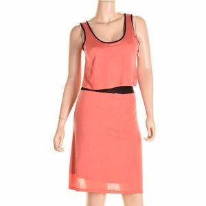 Kensie Popover Dress Orange